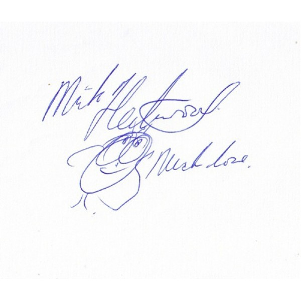 Mick Fleetwood signed authentic genuine signature