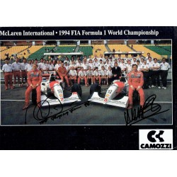 Mika Hakkinen/Brundle  genuine signed authentic autograph