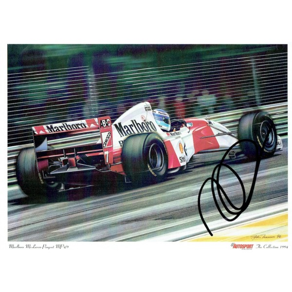 Mika Hakkinen genuine original authentic signed autograph photo