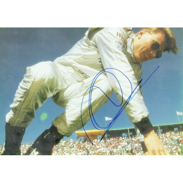 Mika Hakkinen  original authentic genuine autograph signed photo