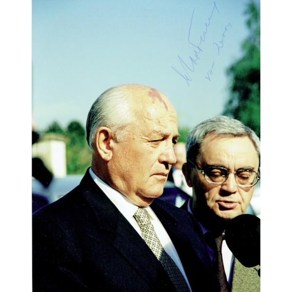 Mikhael Gorbachev genuine authentic signed autograph signatures photo