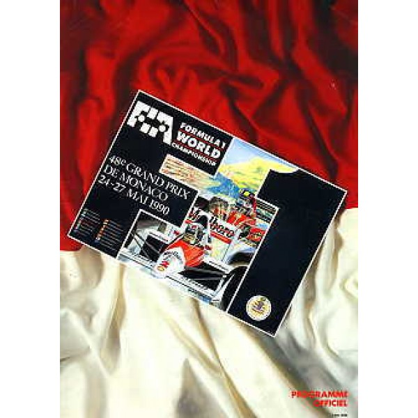 Monaco GP Programme 1990 genuine original authentic signed autograph