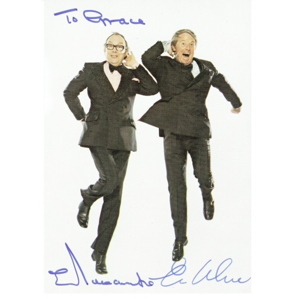 Morecambe and Wise  original authentic genuine autograph signed photo