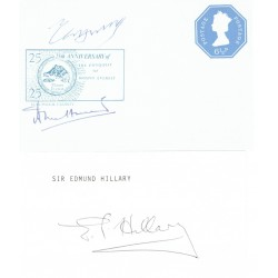 Mount Everest Hillary Tenzing Hunt genuine authentic signed autograph signatures