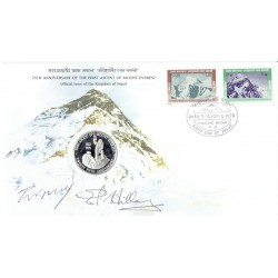 Mount Everest - Norgay / Hunt / Hillary genuine authentic signed autograph signatures