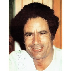 Muammer Gaddafi  authentic genuine signed autographs photo