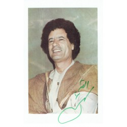 Muammer Gaddafi genuine authentic signed autograph signatures
