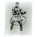 Muhammad Ali large authentic genuine signed card display
