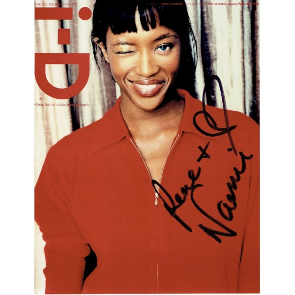 Naomi Campbell authentic signed genuine signature