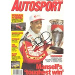Nigel Mansell genuine original authentic signed autograph