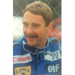 Nigel Mansell original authentic genuine signed autograph photo