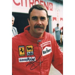Nigel   Mansell original authentic genuine signed photo