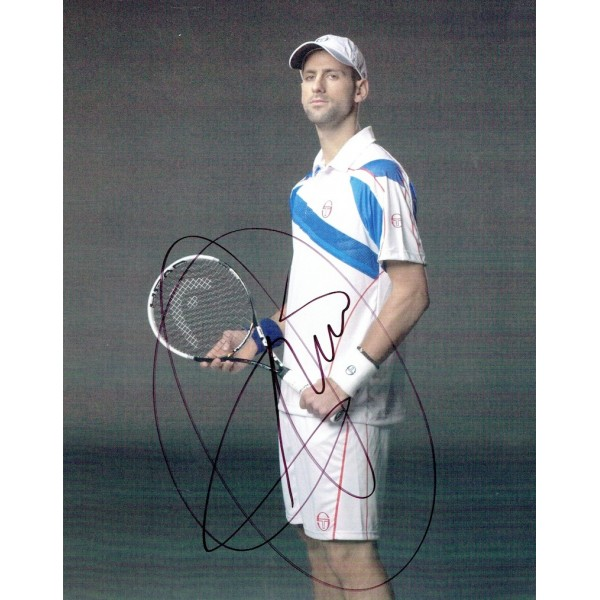 Novak  Djokovic original authentic genuine signed photo