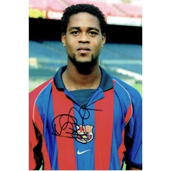 Patrick Kluivert original authentic genuine signed photo