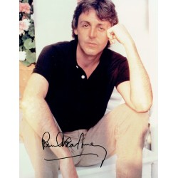 Paul McCartney genuine authentic signed autograph signatures photo
