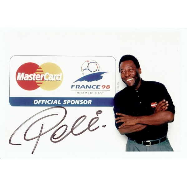 Pele original authentic genuine signed photo