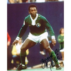 Pele signed authentic genuine signature