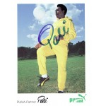 Pele signed authentic genuine signature postcard