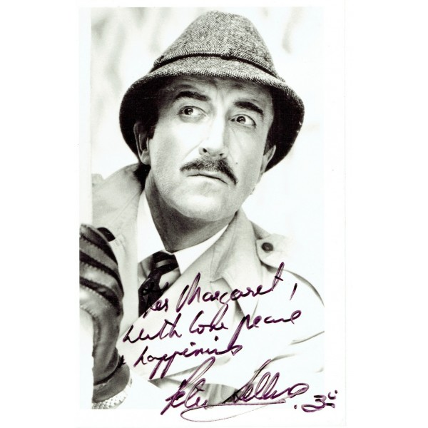 Peter Sellers genuine authentic signed autograph signatures photo