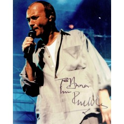 Phil Collins  original authentic genuine autograph signed photo