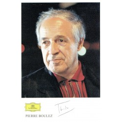 Pierre Boulez  original authentic genuine autograph signed photo