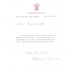 Princess Diana authentic signed autograph signatures