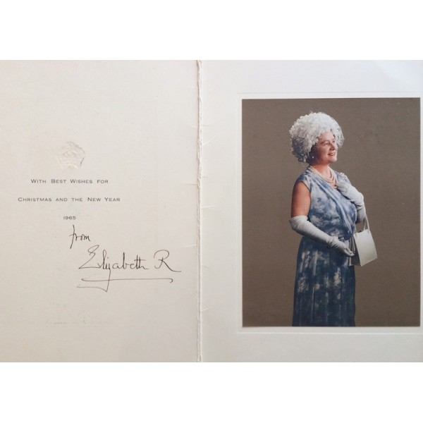 Queen Elizabeth. The Queen Mother.  genuine authentic signed autograph signatures card