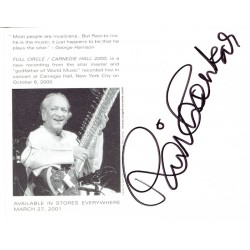 Ravi Shankar authentic genuine signed autograph