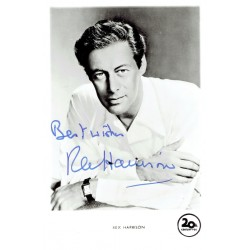 Rex Harrison  authentic genuine autograph signed photo