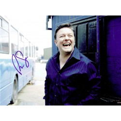 Ricky Gervais  authentic genuine autograph signed photo
