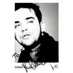 Robbie Williams  original authentic genuine autograph signed photo