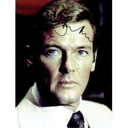 Roger Moore original authentic genuine signed photo