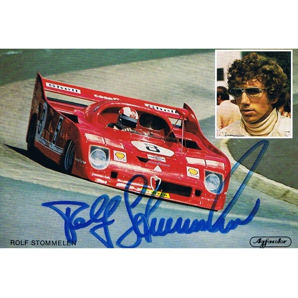 Rolf Stommelen signed authentic genuine signature