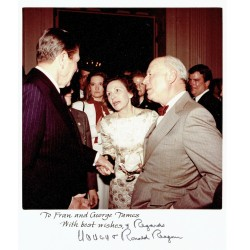 Ronald and Nancy Reagan genuine authentic signed autograph signatures