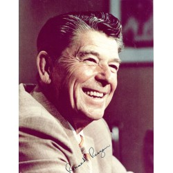 Ronald Reagan genuine authentic signed autograph signatures photo