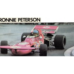 Ronnie Peterson  original authentic genuine autograph signed photo