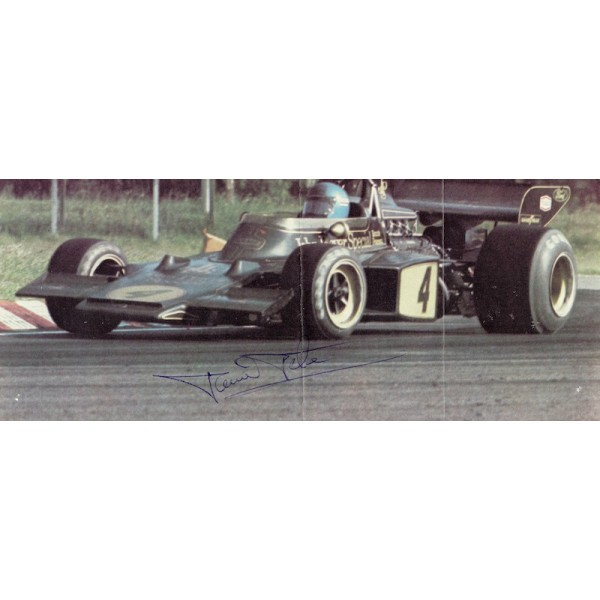 Ronnie Peterson original authentic genuine signed autograph