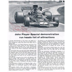 Ronnie Peterson original authentic genuine signed photo