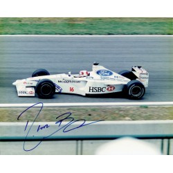 Rubens Barrichello genuine original authentic signed autograph photo