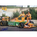 Schumacher and Brundle  genuine signed authentic signature