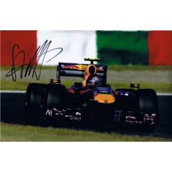 Sebastian Vettel signed authentic genuine signature photo