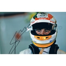 Sergio Perez original authentic genuine signed photo