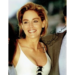 Sharon Stone original authentic genuine signed photo COA