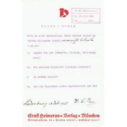 SOLD Carl Friedrich Benz  signed autograph signatures