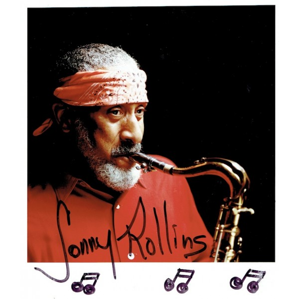 Sonny Rollins  original authentic genuine autograph signed photo