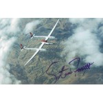 Steve Fossett original authentic genuine signed photo
