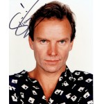 Sting  original authentic genuine autograph signed photo