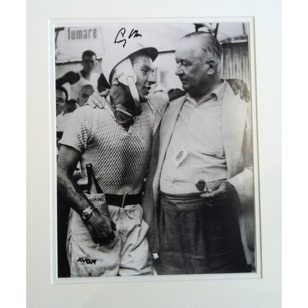 Stirling Moss original authentic genuine signed autograph