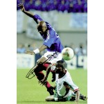 Sylvain Wiltord original authentic genuine signed photo