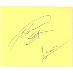 Takuma Sato and Narain Kartikeyan genuine original authentic signed autograph